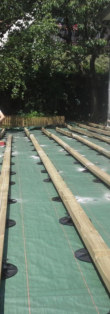 Installation d'une terrasse