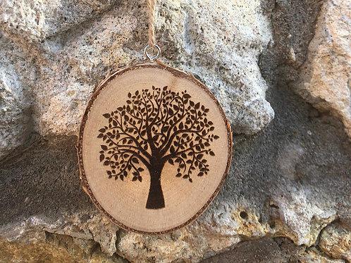 Holzanhänger mit Gravur