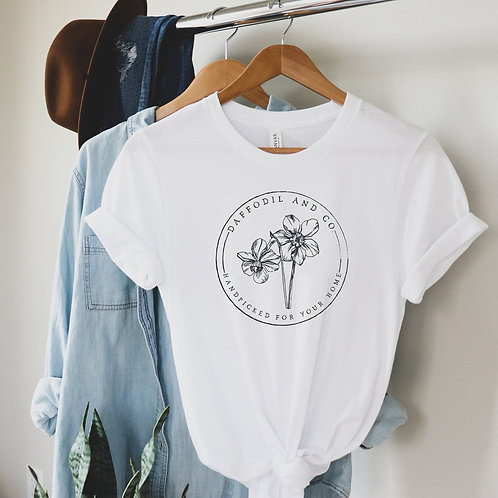 Daffodil & Co. Floral Stamp Tee