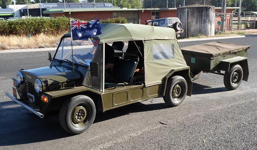 Leyland Moke and trailer