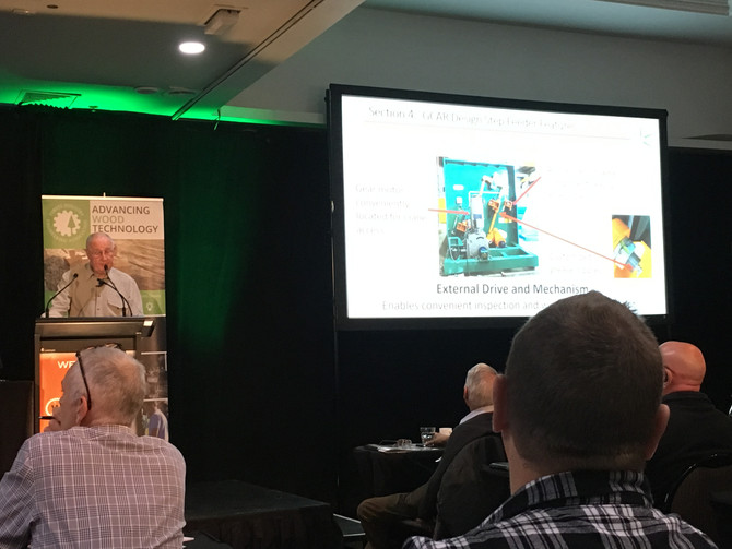 George Goater speaking at WoodTECH 2019 (NZ)