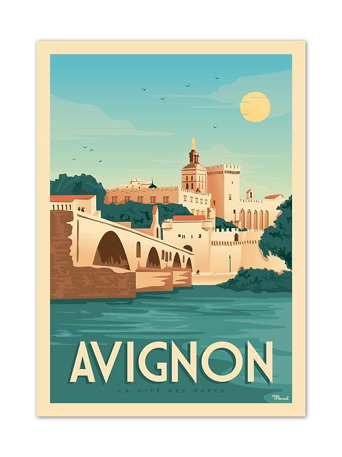Affiche Avignon - Marcel Travel