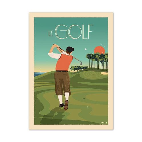 Affiche Le golf - Marcel Travel