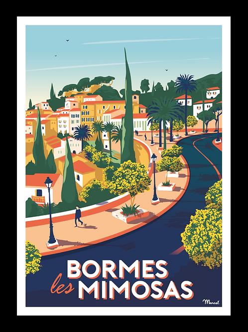 Affiche Bormes-les-mimosas - Marcel Travel