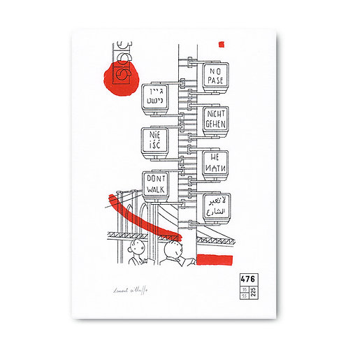 Affiche Laurent Cilluffo  - don't walk - 476