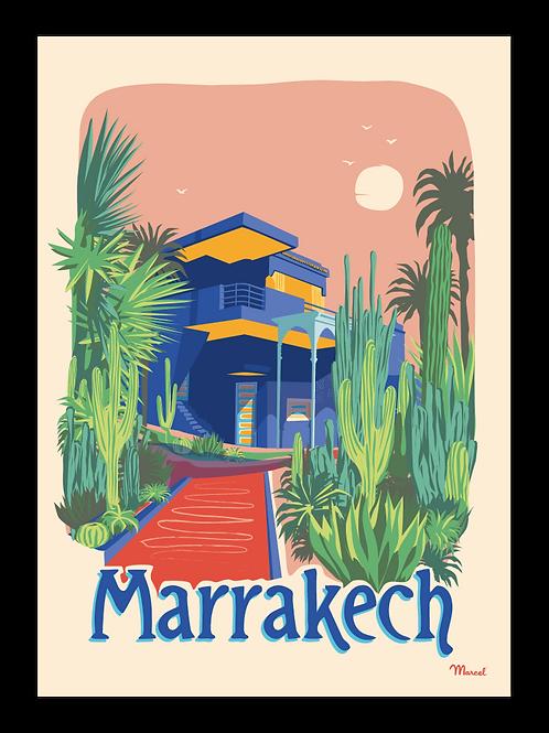 Affiche Marrakech, Jardin Majorelle - Marcel Travel