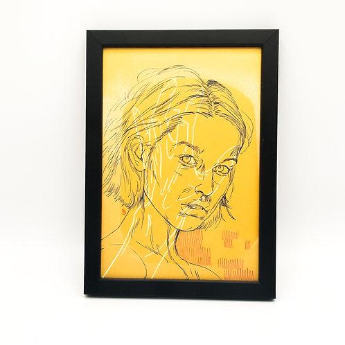 Portrait doré 2 - Garance Clavel