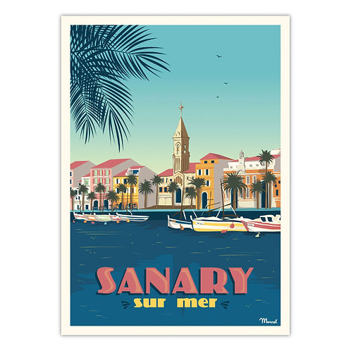 Affiche Sanary - Marcel Travel
