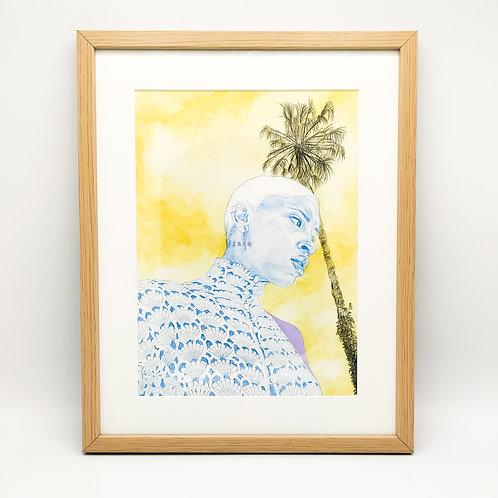 Portrait La Femme en bleu - Garance Clavel