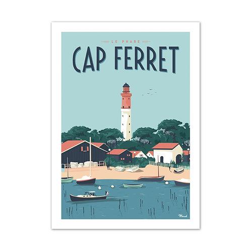 Affiche Cap Ferret - Marcel Travel