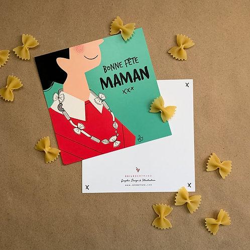 Carte Collier de pâtes - Fête des mères
