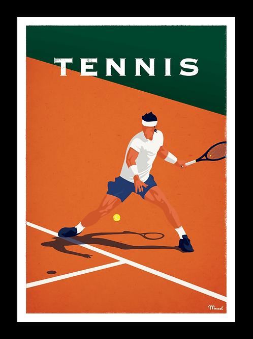 Affiche Tennis - Marcel Travel