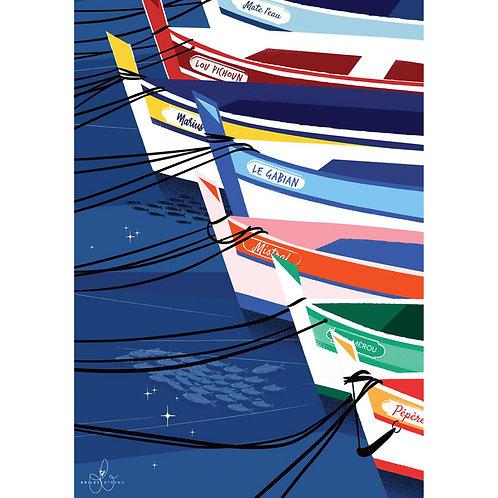 Affiche Les Pointus - Odile Bertrand