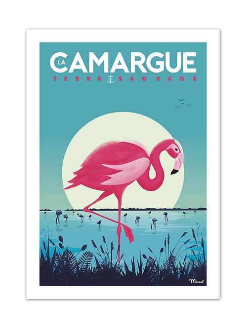 Affiche La Camargue - Marcel Travel