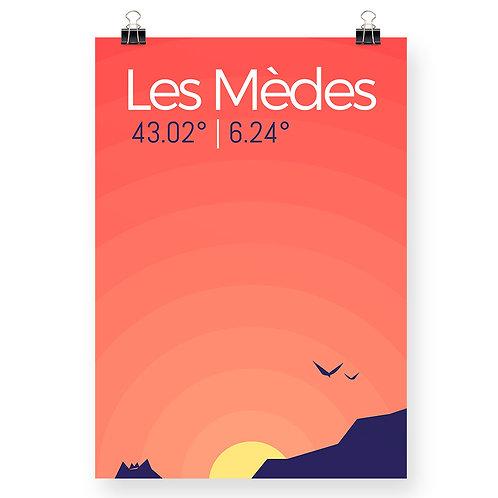 Affiche Lever de soleil sur les Mèdes de Porquerolles - Détendu de la claquette