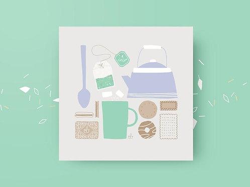 Carte Tea Time - Odile Bertrand