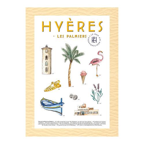 "Affiche ""Hyères"" - Margaux Sarlin"