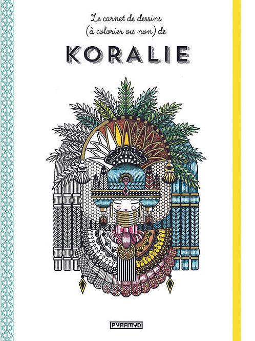 Livre Le carnet de dessins (à colorier ou non) de Koralie
