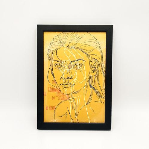 Portrait doré 1 - Garance Clavel