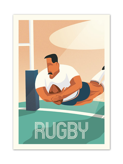 Affiche Le Rugby - Marcel Travel