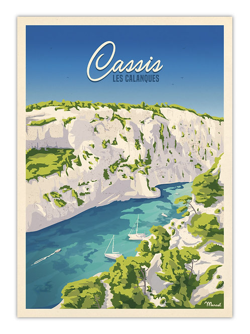 Affiche Cassis - Marcel Travel