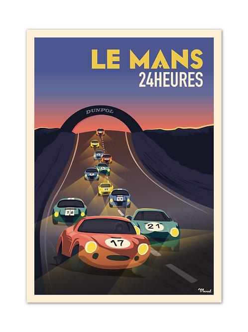 Affiche 24h du Mans - Marcel Travel