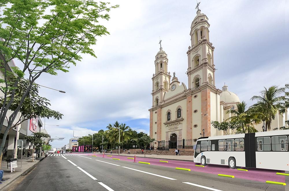 Estacion catedral Metrobus, Culiacan
