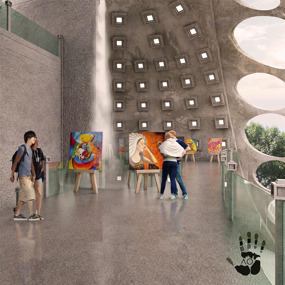 Espacio interior del proyecto.