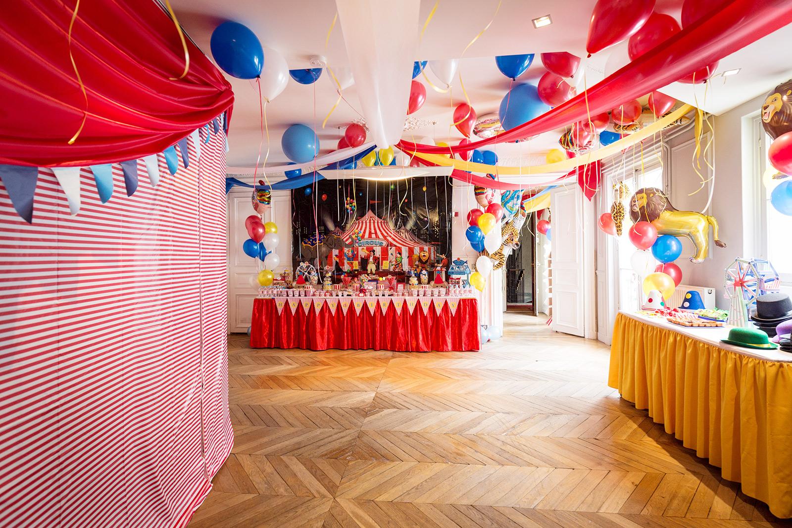 Décoration d'anniversaire Cirque