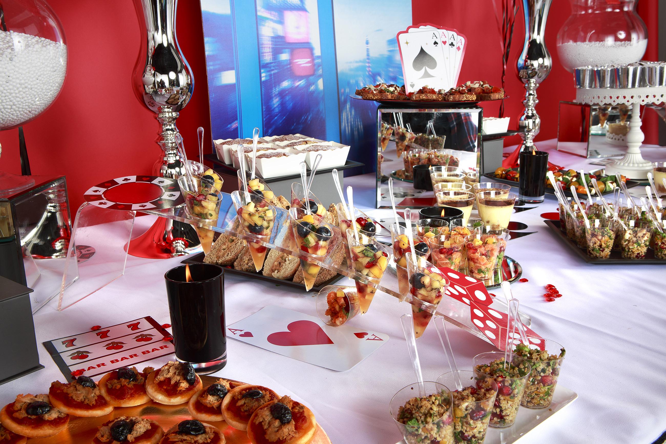 Le buffet d'anniversaire Las Vegas