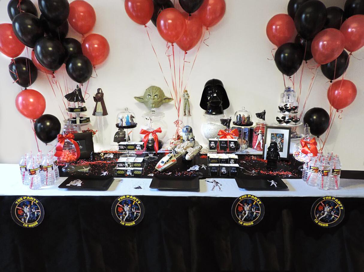Le buffet d'anniversaire Star Wars