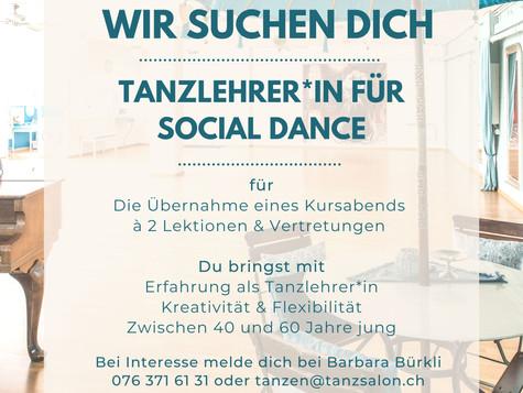 Wir suchen dich - Tanzlehrer*in Social Dance