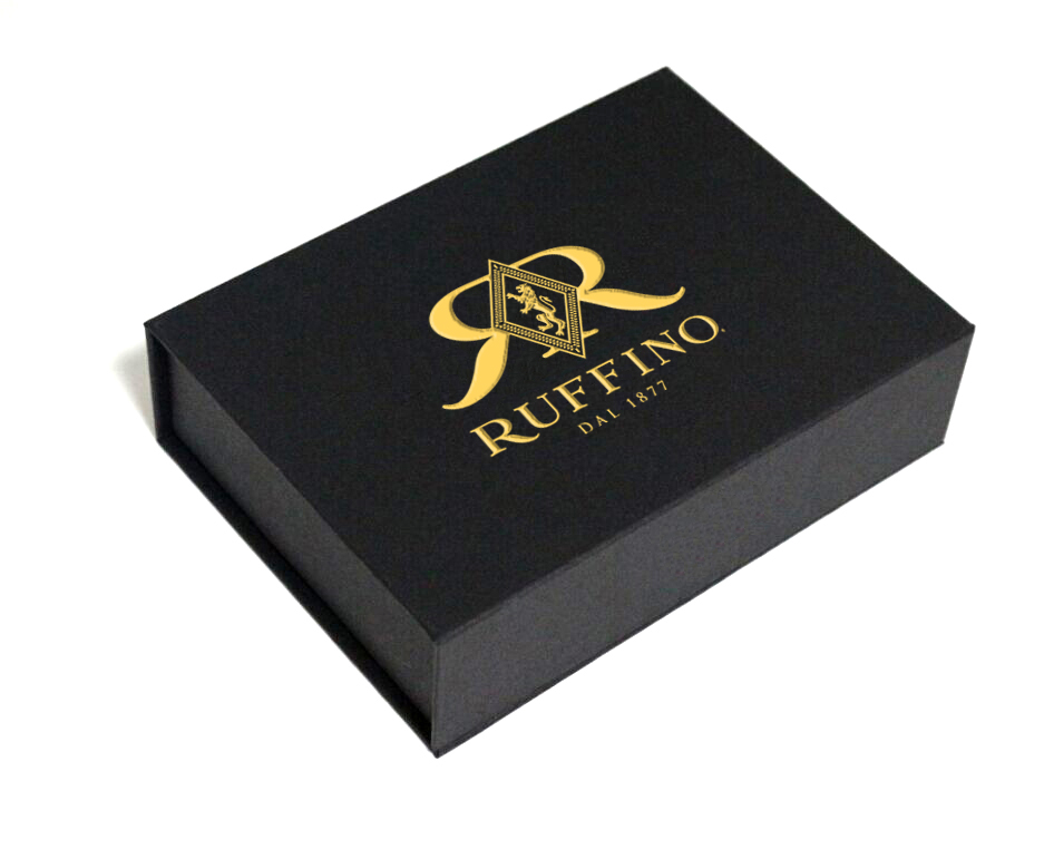 Custom Black Gold Gift Box