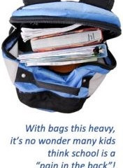 Over 79% of school bags are too heavy!