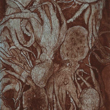 Untitled (Image of Octopuses and Human Body)