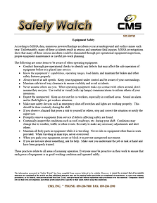 Equipment Safety Topic