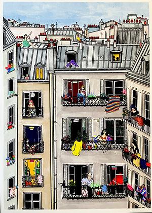 Parisiennes confinées