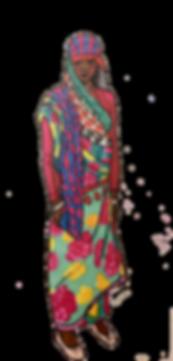 indienne indian woman girl carnet voyage sari couleurs fabric tissu imprimés promarker feutre