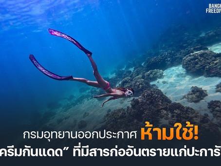 กรมอุทยานออกประกาศ! ห้ามใช้ครีมกันแดดที่มีสารก่ออันตรายแก่ปะการัง