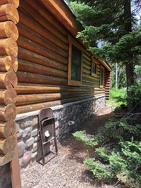 Log cabin Refiishing, Log cabin Staining, Log cabin Blasting, Log cabin Restoration, Log cabin Sealing