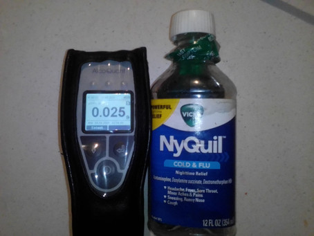 Can I fail an RBT due to cold and flu syrup?