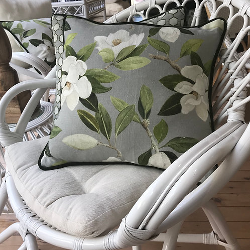 White Cane Flower Chairs