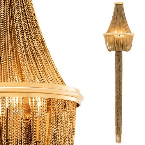 Gold Chair Wall Sconce