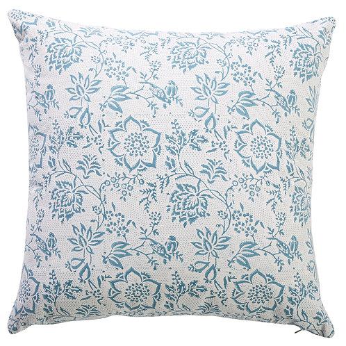 Blue & White Peony Cushion
