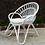 Thumbnail: White Cane Flower Chairs