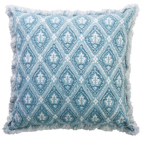 Blue & White Dandelion Cushion