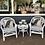 Thumbnail: White Cane Side Table