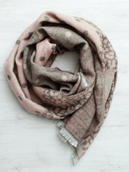 Gingerlilly Pink Spot Scarf