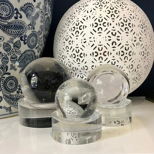 Small Crystal Ball On Stand