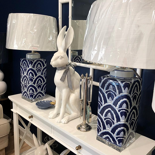 Blue Agate Table Lamp